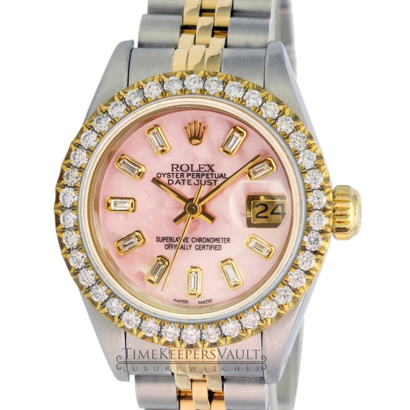 Rolex Accessories - Rolex Lady Datejust Pink MOP Diamond Dial/Bezel